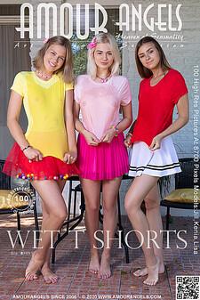 AmourAngels - Jill & Kenia & Lisa - Wet T-shorts